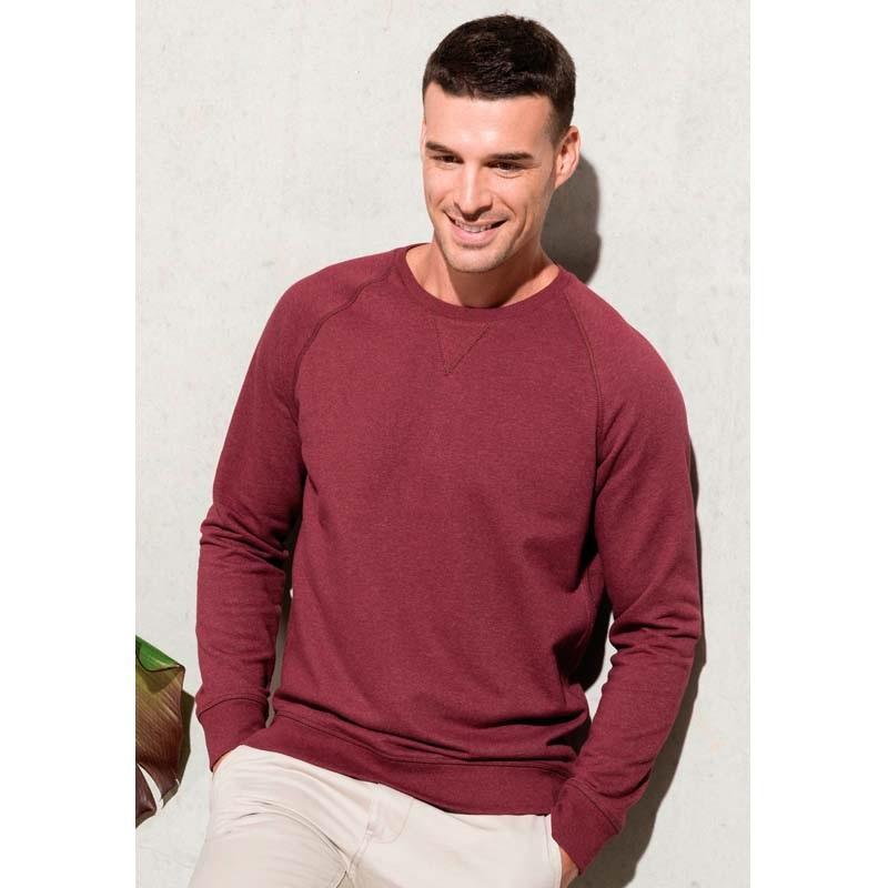 Kariban Men's organic cotton crew neck raglan sleeve sweatshirt