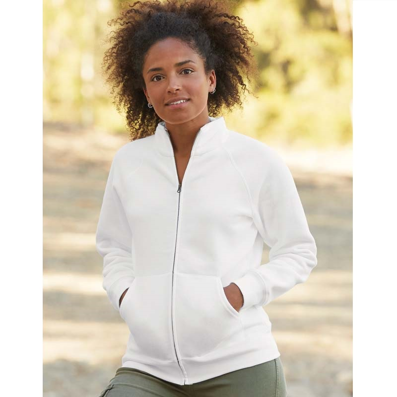 Fruit Of The Loom Lady-Fit Premium Full Zipped Hooded Sweat Jacket